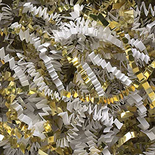 White Gold Metallic Crinkle Cut 10 pound